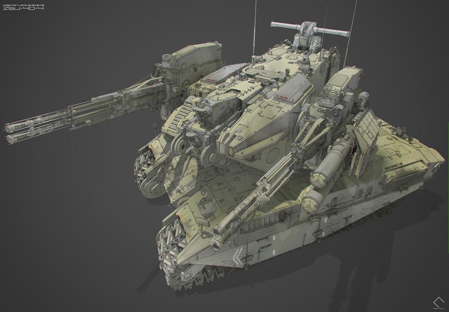 ZSU-40-4 SPAAG - Alex Caldow Concepts