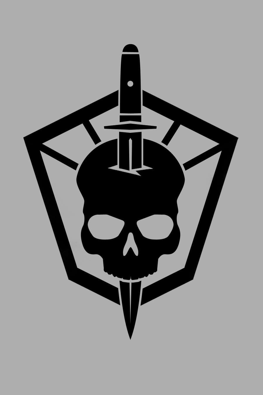 gunner hell logo iron lung studios graphic design